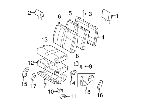 Rear Seat Components for 2009 Toyota Tundra #1