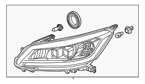 Headlight Assembly, R - Honda (33100-T3V-A51)