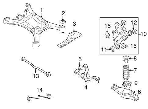 Rear Suspension/Rear Suspension for 2012 Nissan Altima #2