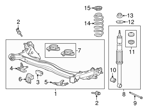 Rubber, Rear Shock Absorber Mounting