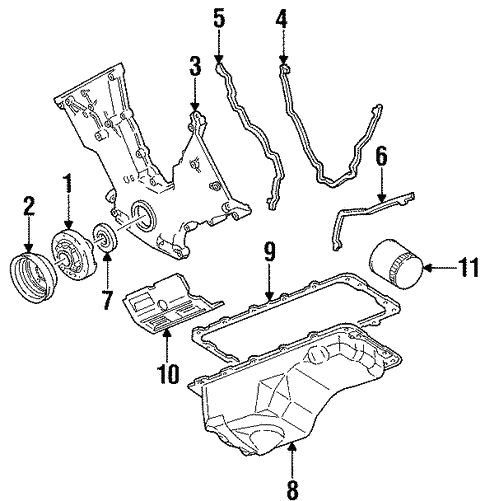 engine parts for 1998 ford mustang