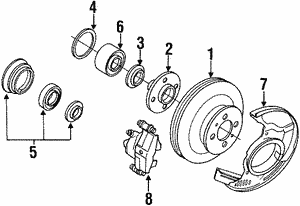 Brake Rotor, Left Front, Right Front