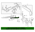 WIPER ARM, DRIVERS SIDE - Subaru (86532SC110)