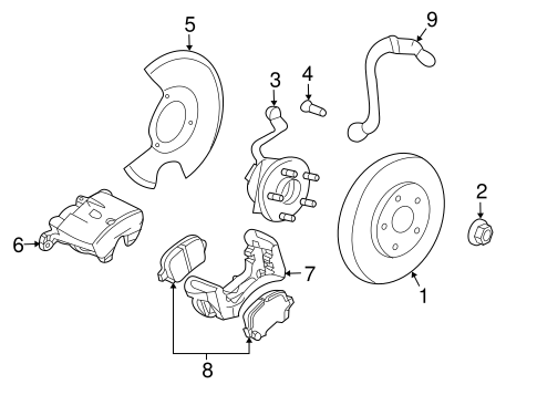 Brake Components For 2008 Pontiac G6