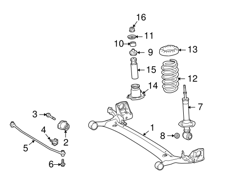 REAR SUSPENSION/REAR SUSPENSION for 2012 Toyota Corolla #1