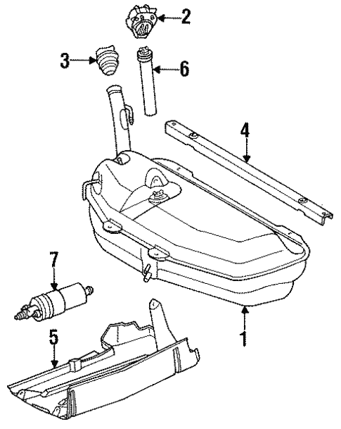 Fuel System Components for 1995 Mercedes-Benz E 320 #2