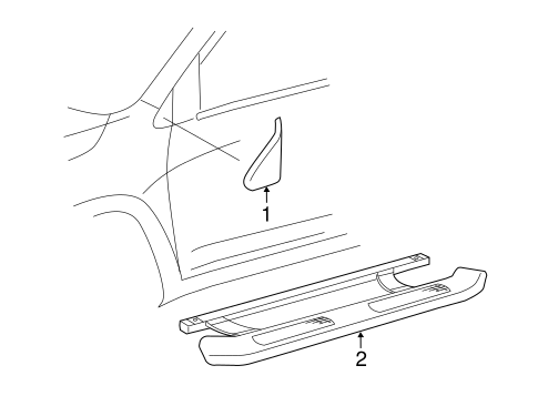 Exterior Trim - Pillars for 2012 Toyota RAV4 #0