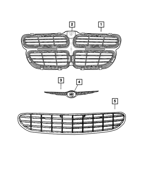 Grilles for 2002 Dodge Stratus #0