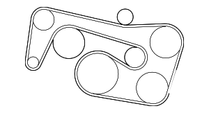 Serpentine Belt - Mercedes-Benz (002-993-08-96)