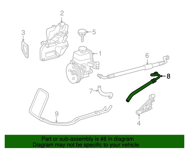Genuine Mercedes Slk230 Power Steering Lower Return Line Hose 1709970782