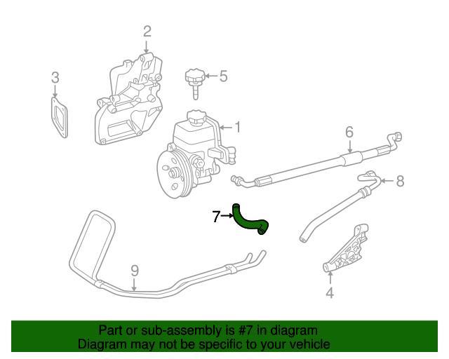 Mercedes-Benz 170 997 07 82 Power Steering Return Hose
