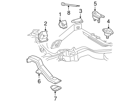 Engine Trans Mounting For 2002 Gmc Sonoma