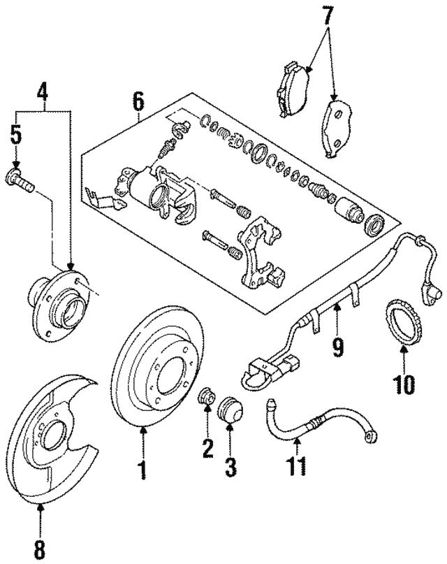 1995 2003 Nissan Maxima Rotor 43206 4u001