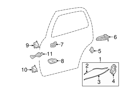 ELECTRICAL/REAR DOOR for 2006 Toyota Tundra #3