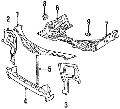 BODY/RADIATOR SUPPORT for 1996 Toyota Tercel #1
