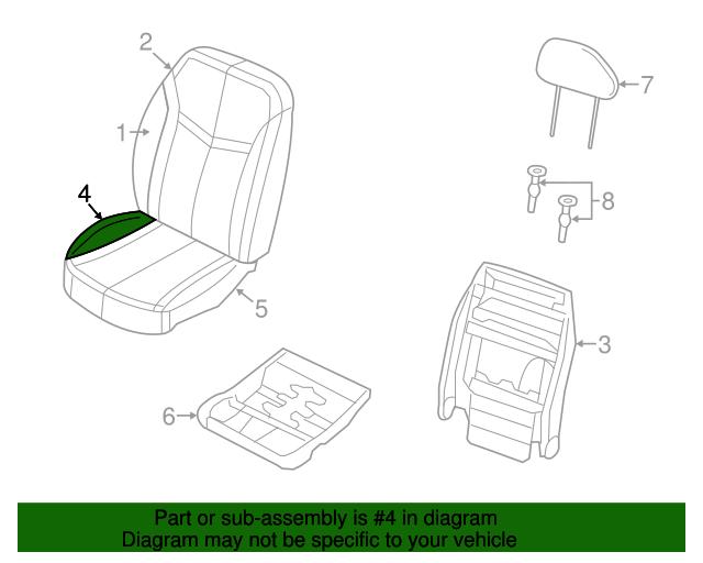 2012 2014 Dodge Avenger Seat Cushion Pad 68141335aa