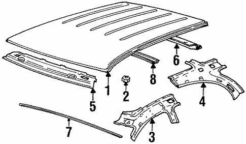 roof & components for 1996 saturn sw1 #0