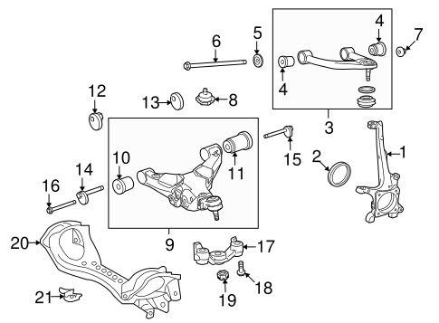 FRONT SUSPENSION/SUSPENSION COMPONENTS for 2015 Toyota Land Cruiser #2