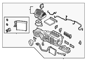 AC & Heater Assembly - Nissan (27110-EZ03D)