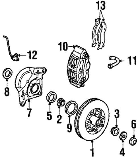 Front Brakes For 2001 Lincoln Navigator