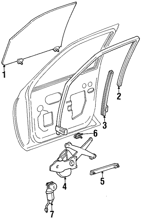 Front Door For 1997 Lincoln Continental