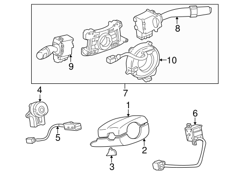 STEERING/SHROUD, SWITCHES & LEVERS for 2000 Toyota Camry #1