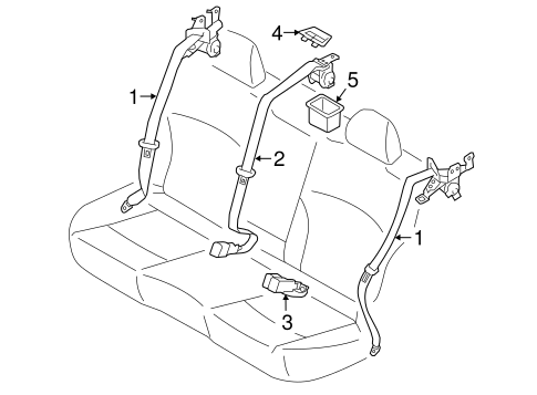 Rear Seat Belts for 2016 Subaru Legacy #0