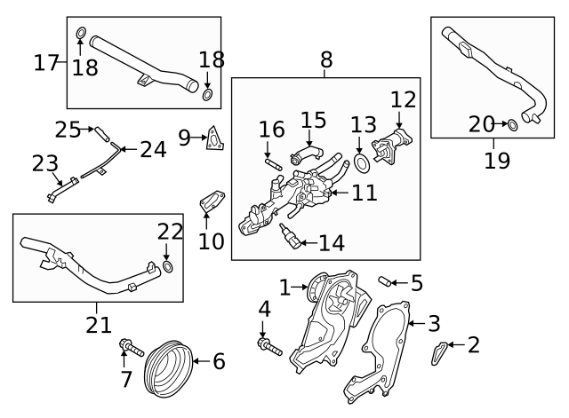 GENUINE BRAND NEW HYUNDAI ACCENT 2000-2006 PIPE /& O-RING ASSY-WATER INLET JYH
