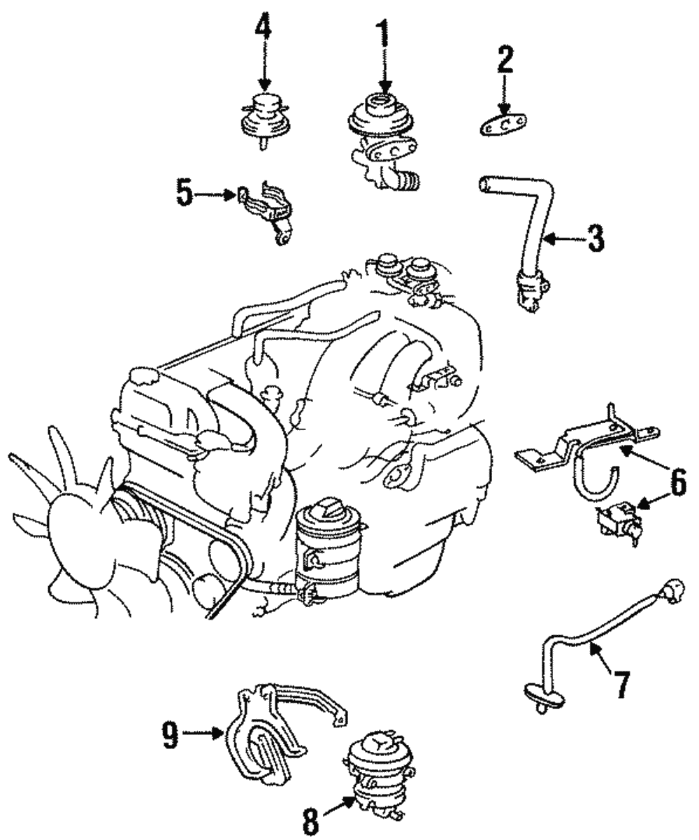 Note The Above Egr Valve Wiring Diagram Applies Only To 1996 1997