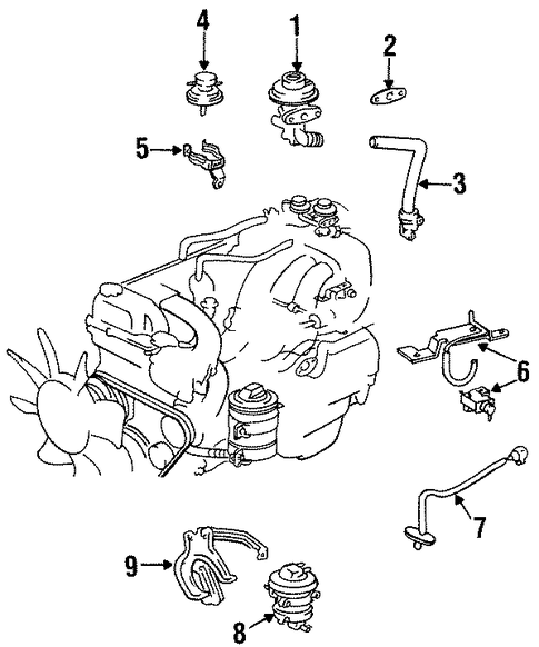 EMISSION SYSTEM/EMISSION COMPONENTS for 1996 Toyota Land Cruiser #1