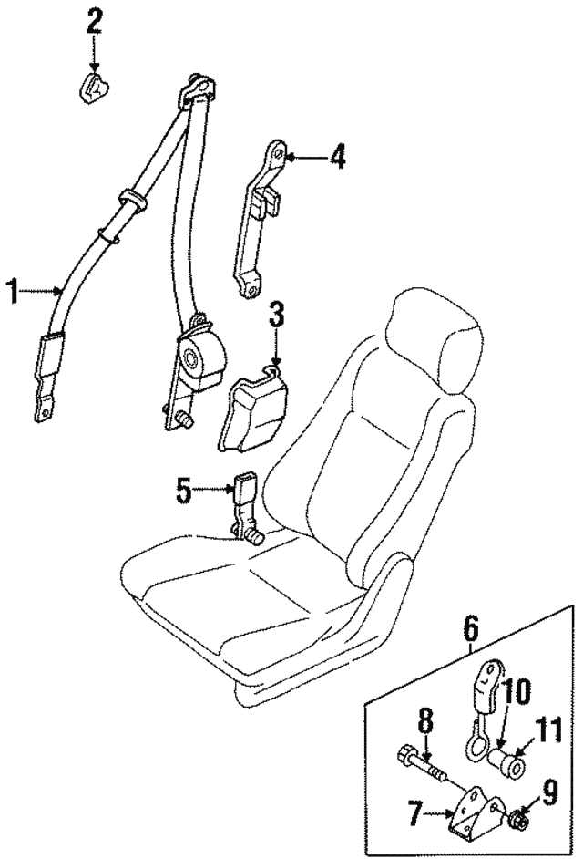 Rod Assembly, R Seat Belt Tension
