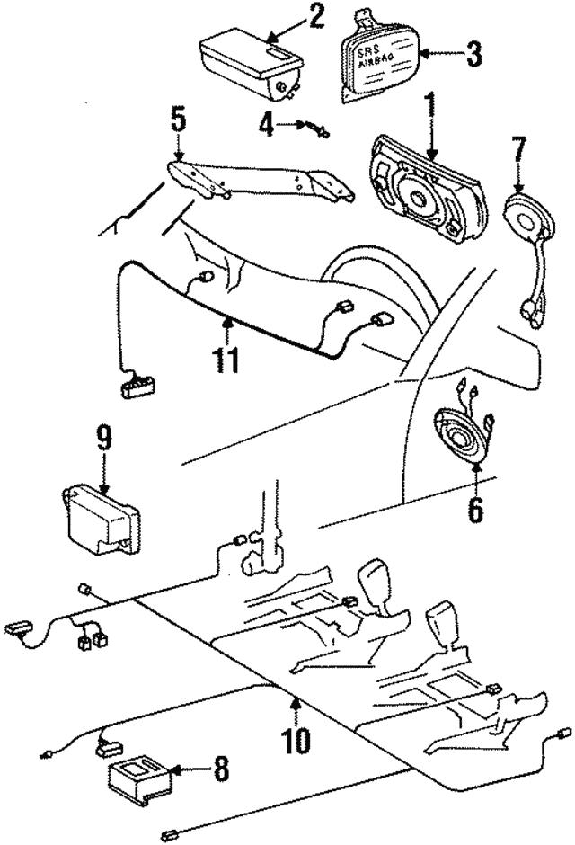 1994 Mercedes Benz S 600 Air Bag Harness 140 440 96 08