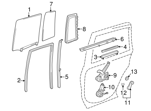 Rear Door for 1996 Toyota RAV4 #0
