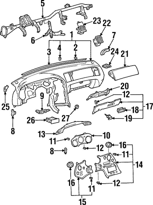 1993 1998 Toyota Supra Reinforcement 55330 14120