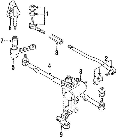 Steering Gear Linkage For 1998 Chevrolet Tracker