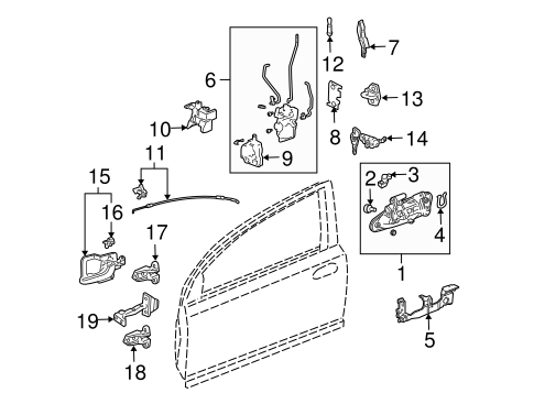 Honda Actuator Assembly Door Lock 72155s5aa01