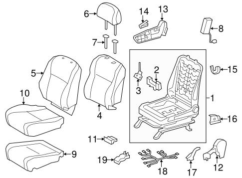 TOYOTA Genuine 71811-60130-B0 Seat Cushion Shield