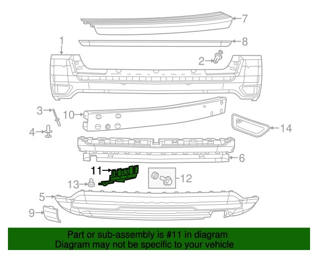 Genuine Chrysler Fascia Bracket 68082969AB