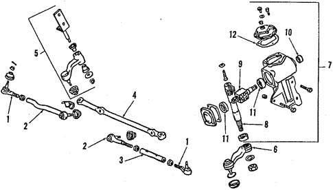 Steering Gear & Linkage for 1989 Mitsubishi Mighty Max