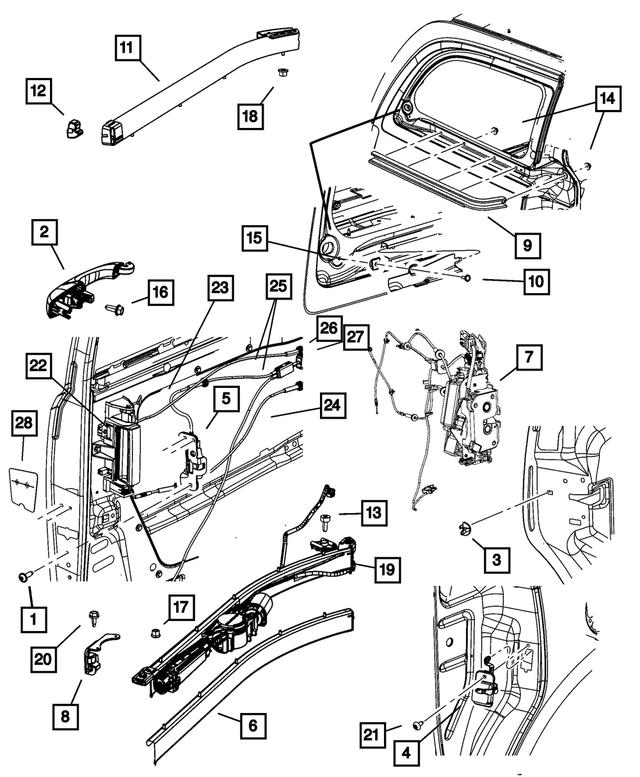 Left Side Sliding Door Lock Actuator 5020679AB for 2008-2017 Chrysler Town /& Country Driver Side Lock Actuator fit 2008-2019 Dodge Grand Caravan