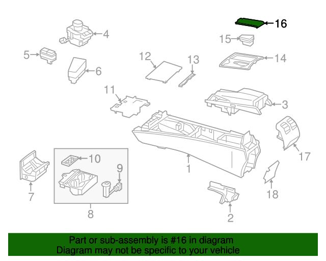 Top Cover - Mercedes-Benz (204-680-47-08-8R73)   MB OEM Parts