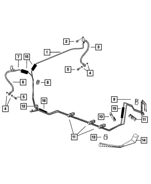 Brake Hydraulic Line Clip-Parking Brake Cable Mopar 32000404