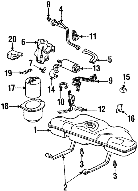 Oem 1996 Oldsmobile Achieva Senders Parts