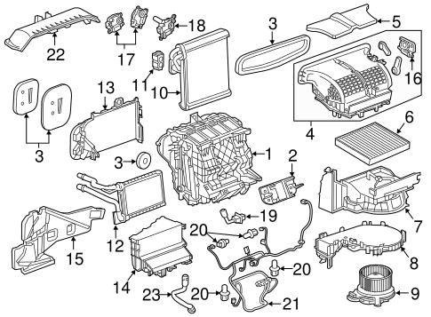 Oem 2016 Chevrolet Malibu Controls Parts