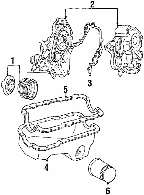 engine parts for 1997 mercury cougar